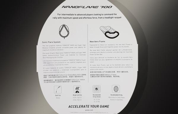 Ракетка для бадминтона Yonex Nanoflare 700